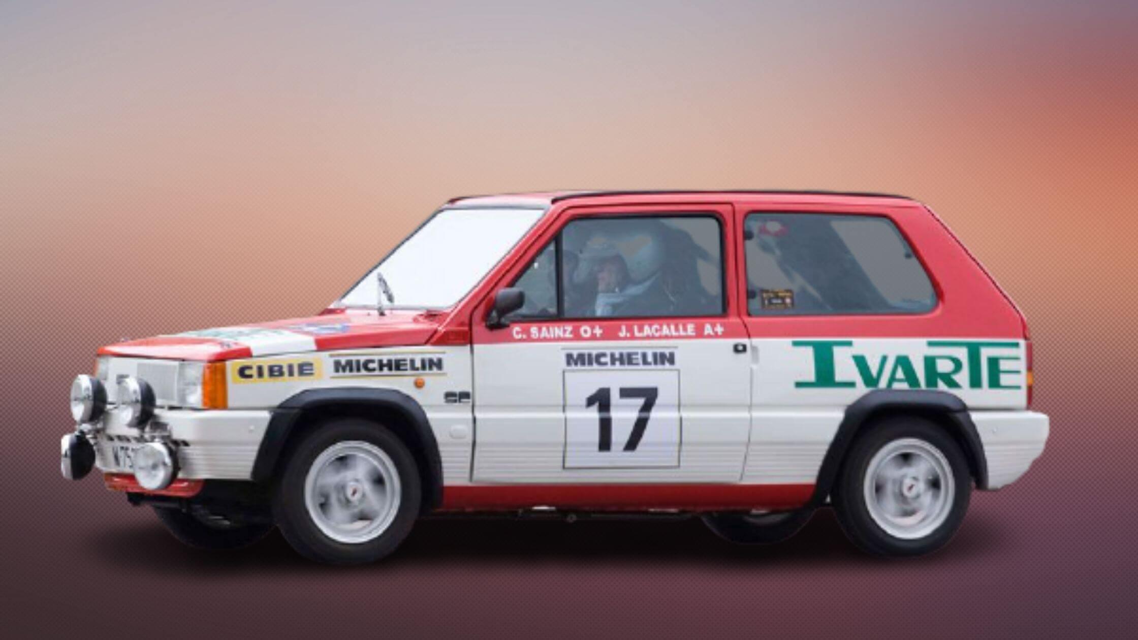 Carlos Sainz en la carrera deportiva con el Fiat Panda